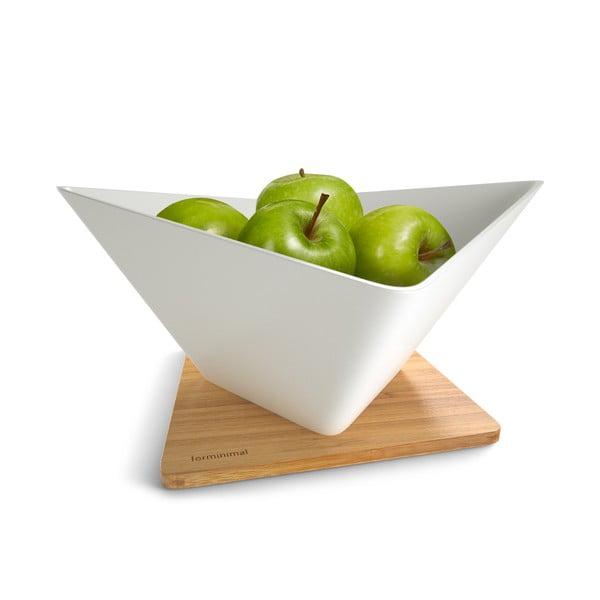 Odkvapkávacia misa na ovocie s podložkou Draining Fruit Bowl, biela