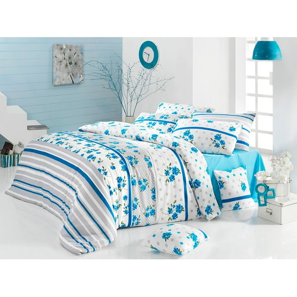 Sada obliečok a plachty Blue Romance, 200x220 cm