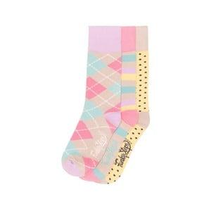 Sada 3 párov farebných ponožiek Funky Steps Cairo, veľ. 35-39