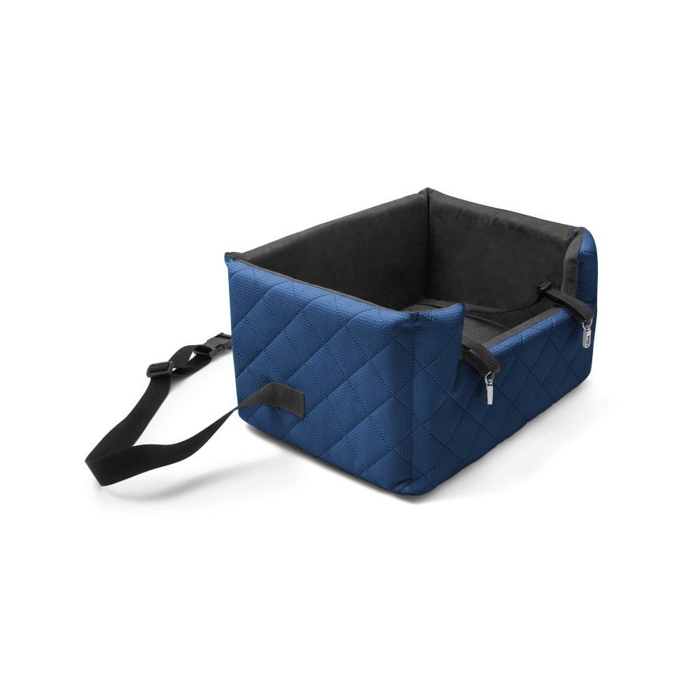 Modrá prepravná taška pre psa do auta Marendog Travel, 40 × 47 × 25 cm