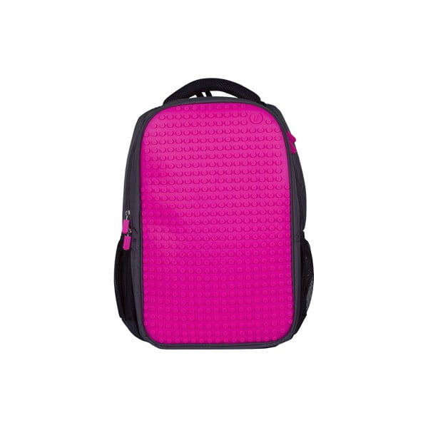 Študentský batoh Pixelbag grey/fuchsia