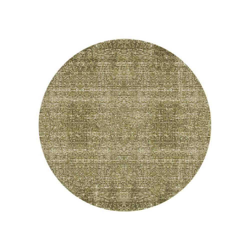 Zelený bavlnený koberec PT LIVING Washed, Ø 150 cm