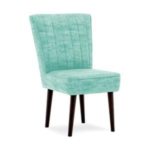 Tyrkysová čalúnená stolička Vivonita Leila