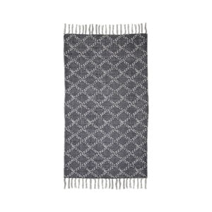Tmavosivý bavlnený koberec HSM collection Colorful Living Mano, 90×60 cm