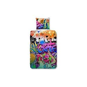 Detské bavlnené obliečky na jednolôžko Good Morning Graffity, 140 × 200 cm