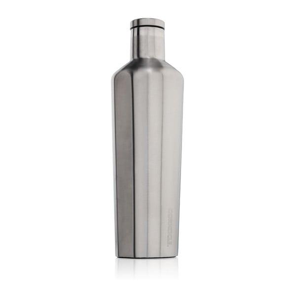 Strieborná cestovná termofľaša Corkcicle Canteen, 740 ml