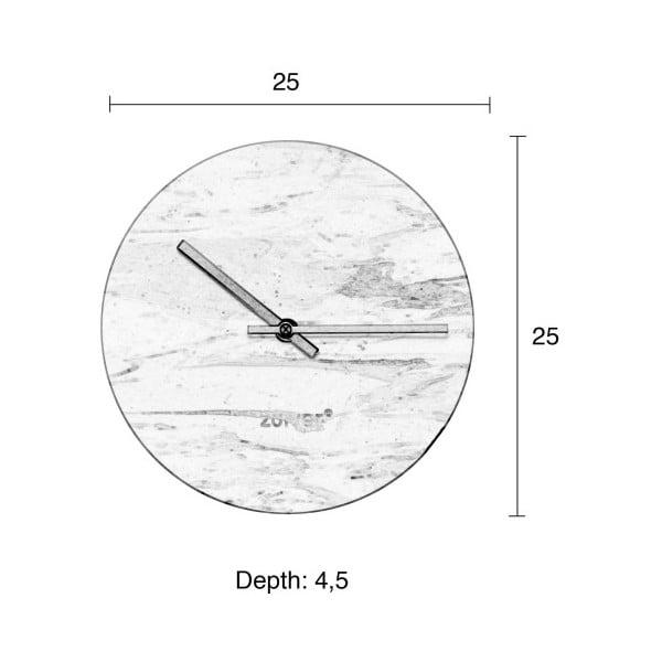Sivé nástenné mramorové hodiny Zuiver Marble Time