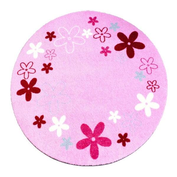 Koberec Deko - ružové kvietky, 100 cm