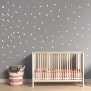 Ružové nástenné samolepky Art For Kids Dots