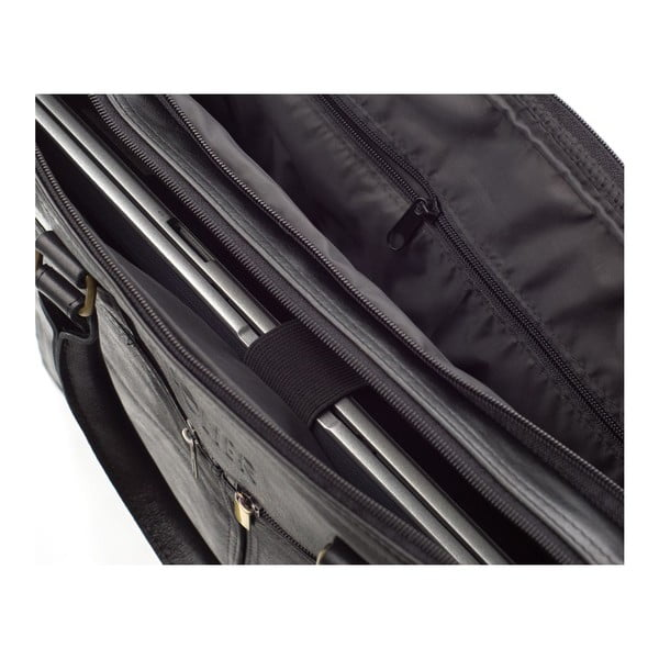 Pánska kožená taška Solier SL01 Black