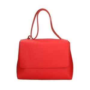 Červená kožená kabelka Roberto Buono Barbara
