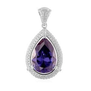 Strieborný prívesok s fialovými a bielymi zirkónmi Swarovski Elements Crystals Zian