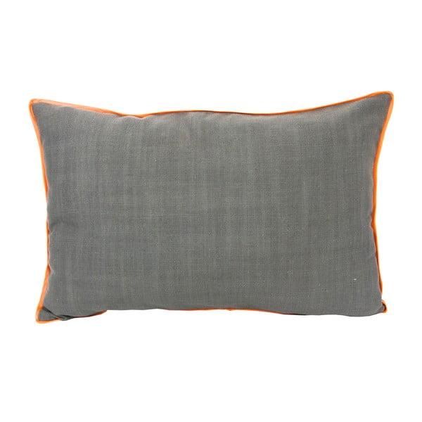 Vankúš s oranžovým lemom 40x60 cm