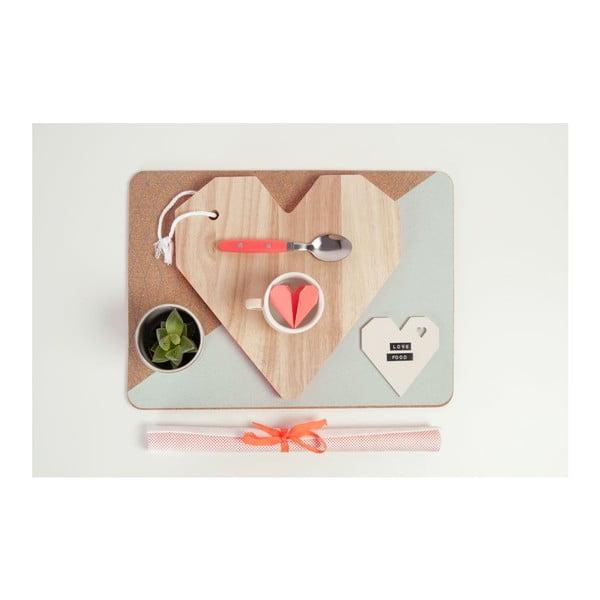 Doska na krájanie Origami Heart Orange