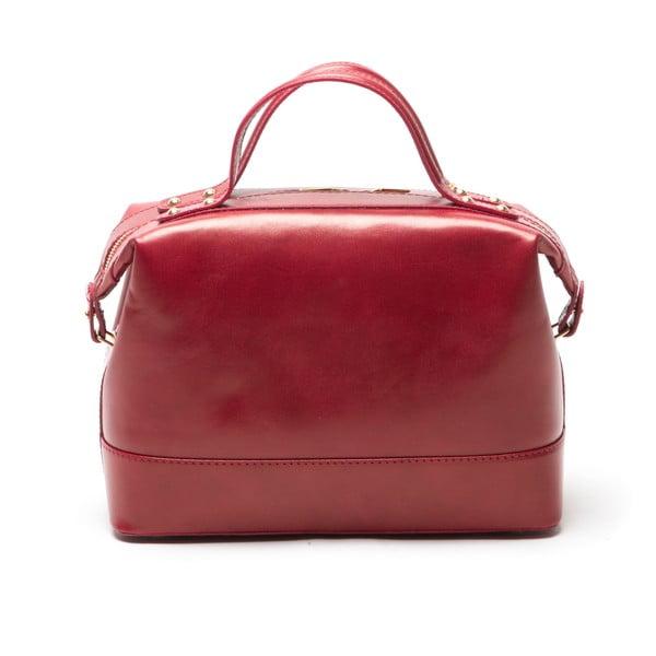 Kožená kabelka Anna Luchini 355 Rosso