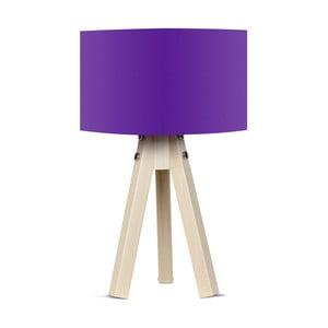 Stolová lampa s fialovým tienidlom Kate Louise Naturel