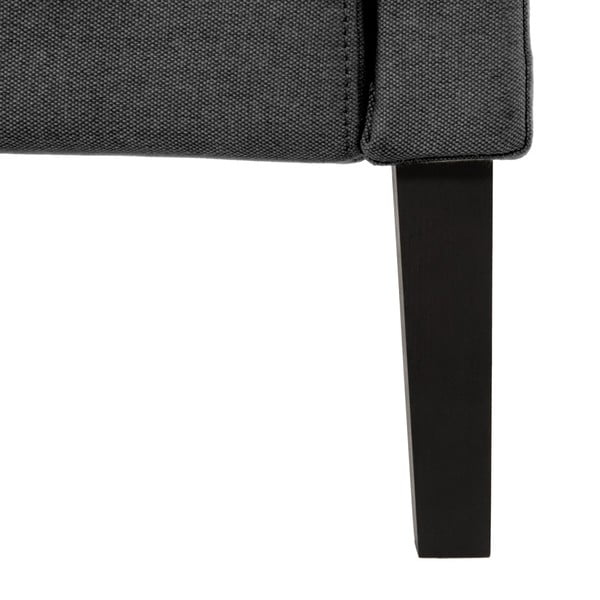 Tmavosivá posteľ s čiernymi nohami VIVONITA Windsor, 160 x 200 cm