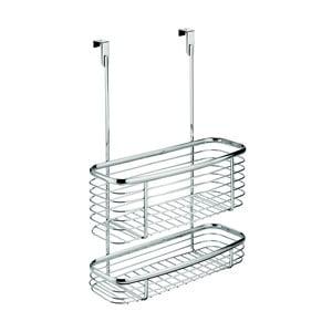 Kovový košík na kuchynské dvierka InterDesign Axis Double Basket