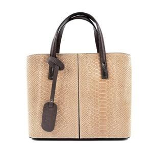 Béžovoružová kožená kabelka Roberta M Muriella