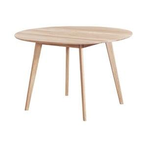 Jedálenský stôl z bieleného dubového dreva Folke Yumi, ∅ 115 cm