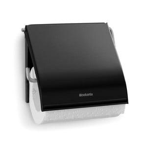 Čierny držiak na toaletný papier Brabantia Spa
