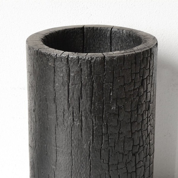 Vypálený palmový kvetináč Long