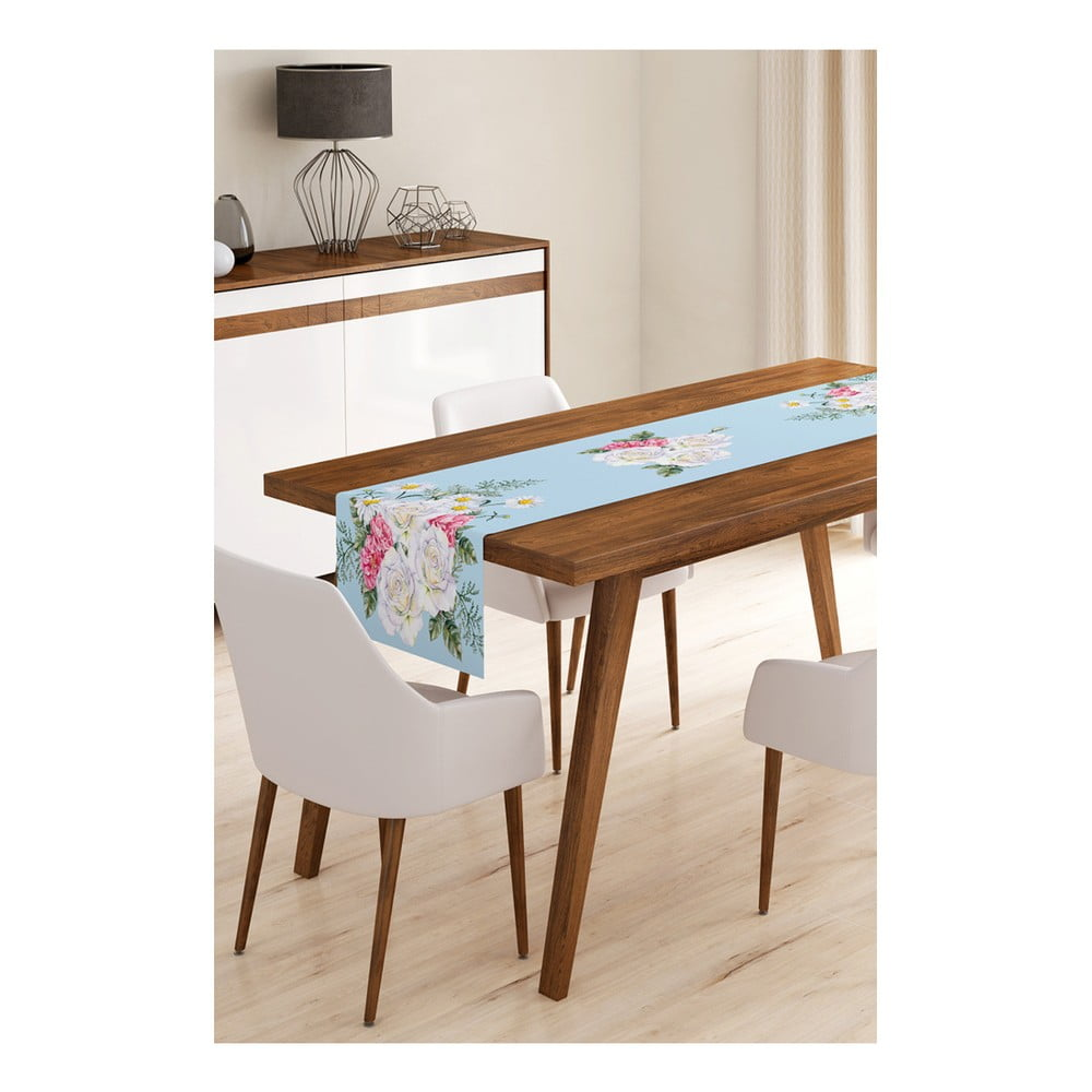 Behúň na stôl z mikrovlákna Minimalist Cushion Covers Flowers, 45 × 145 cm
