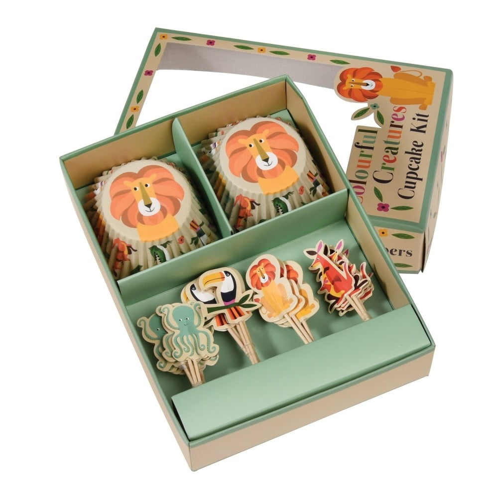 Sada na zdobenie cupcakes Rex London Colourful Creatures