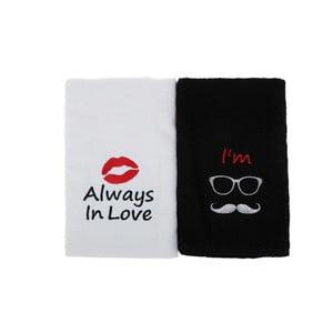 Sada 2 uterákov Always In Love, 50x90cm