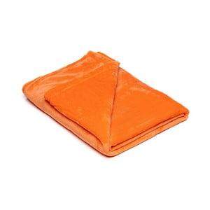 Oranžová mikroplyšová deka My House, 150×200 cm