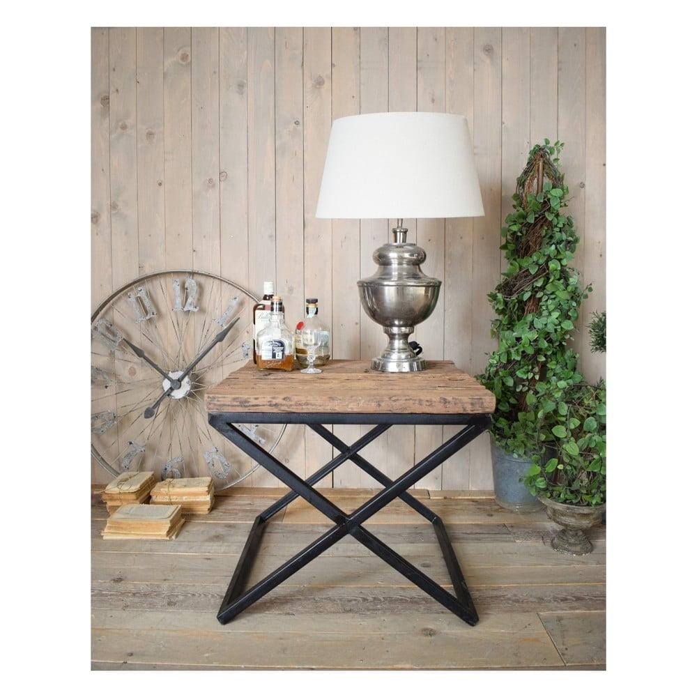 Odkladací stolík s doskou z borovicového dreva Orchidea Milano Old Factory