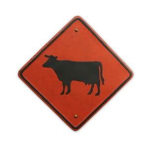 Ceduľa na stenu Cow