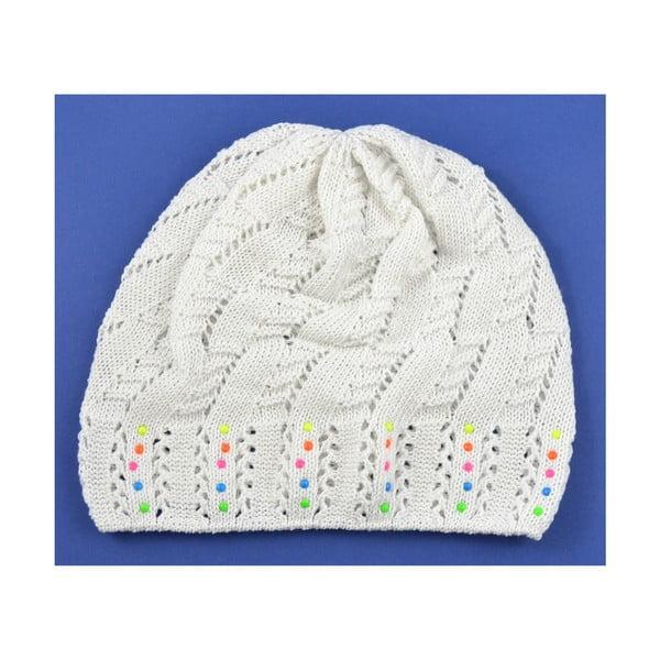 Dievčenská čapica Cuki, biela