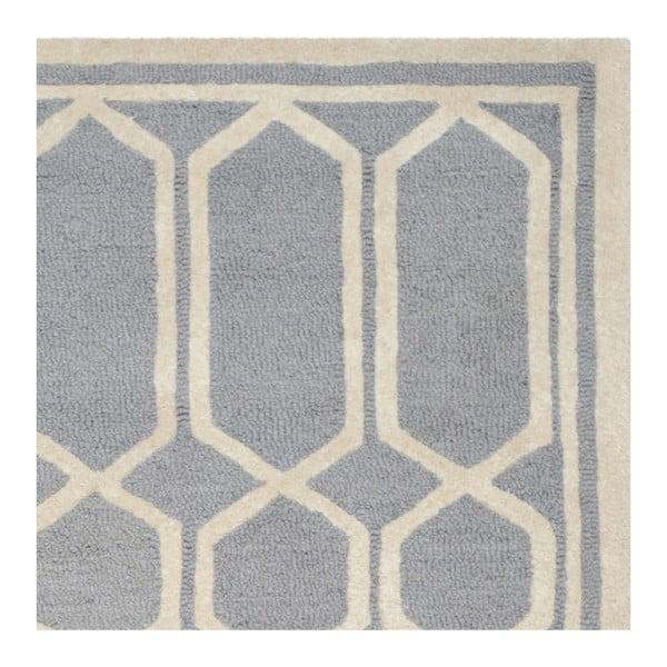 Sivý vlnený koberec Safavieh Olivia, 182 x 274 cm