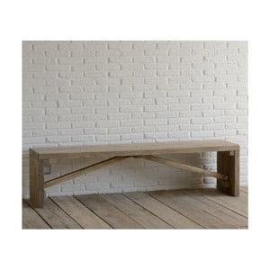Lavica z recyklovaného dreva Old Wood, 45x180 cm