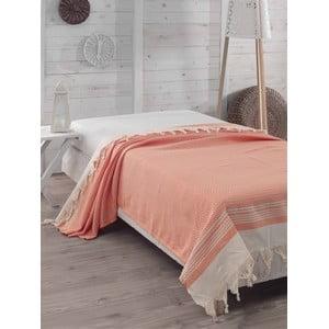 Prikrývka na posteľ Hasir Orange, 200x240 cm