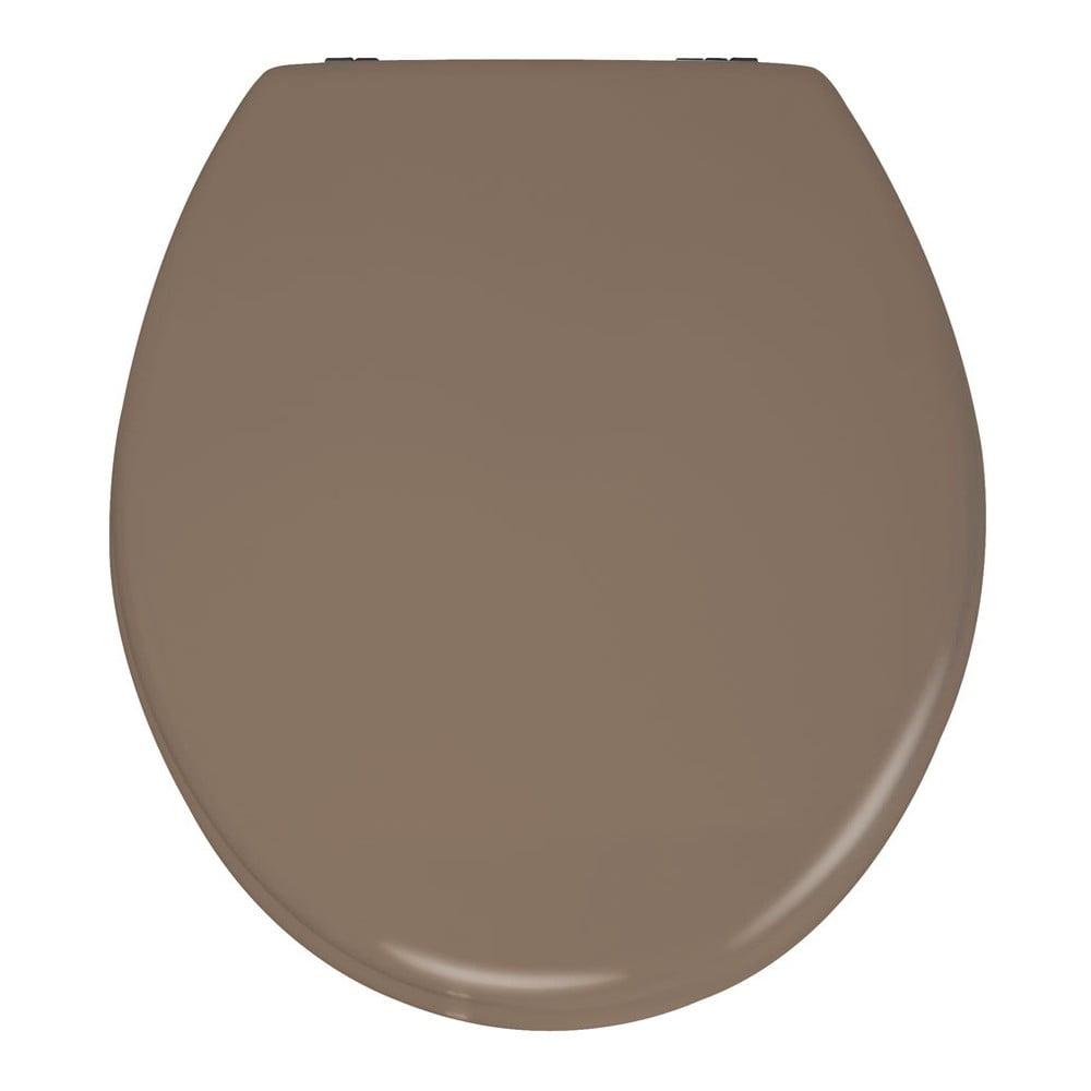 Matnebéžové WC sedadlo Wenko Prima, 41 x 38 cm