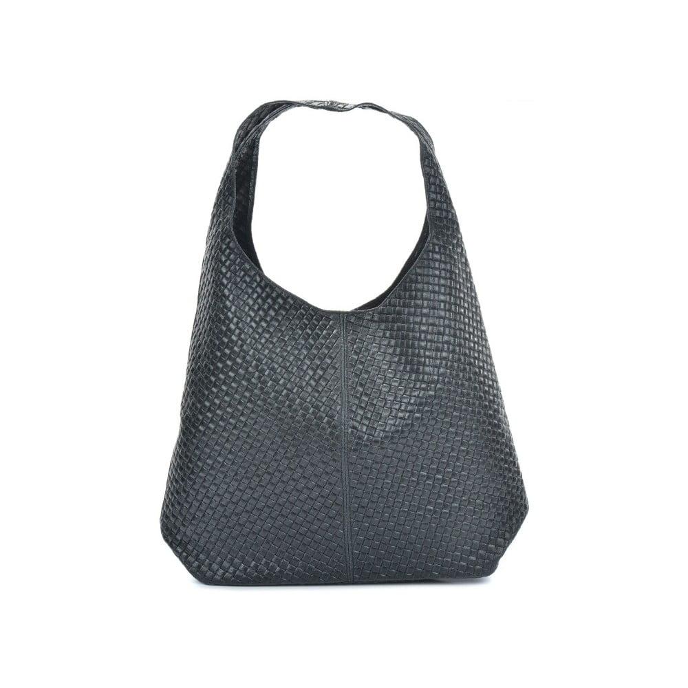 Čierna kožená kabelka Mangotti Bags Abelie