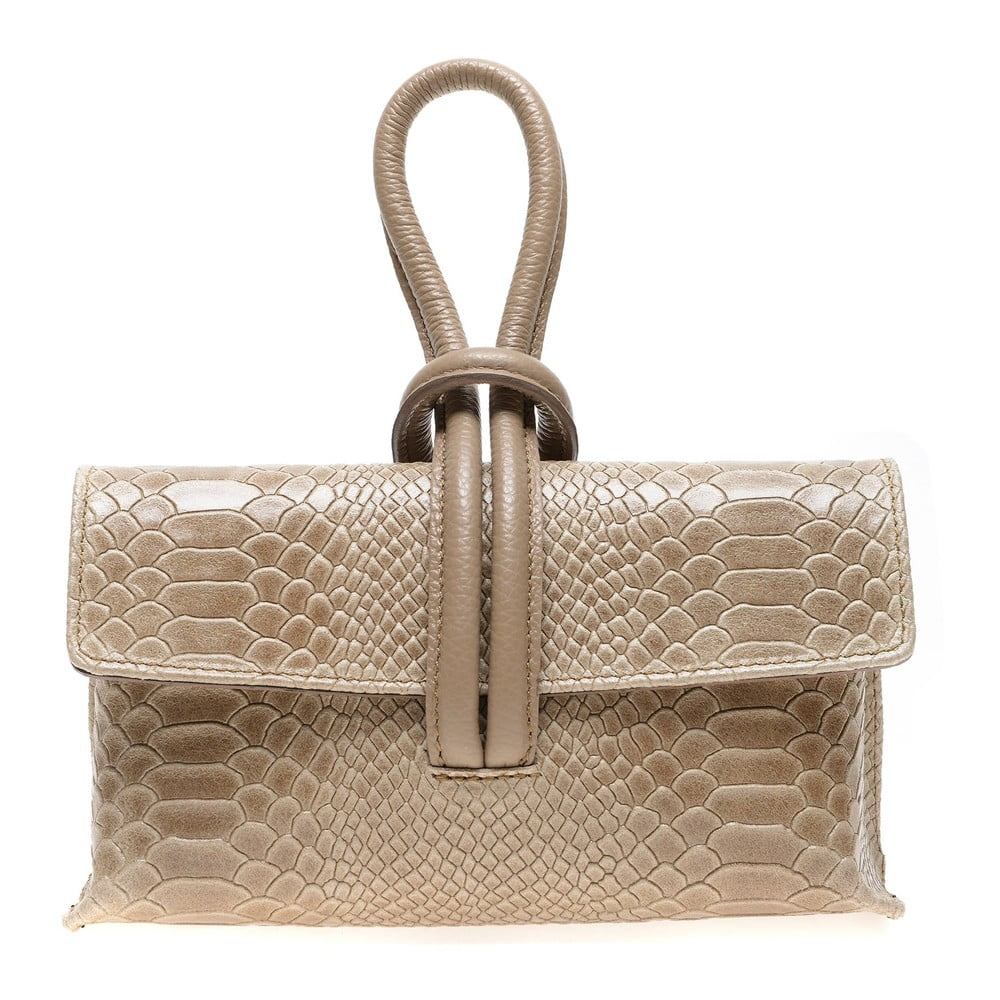 Béžová kožená kabelka do ruky Renata Corsi
