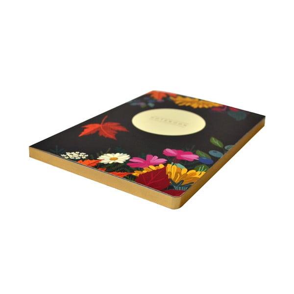 Zápisník A5 Portico Designs Autumn Floral Flexi, 160stránok