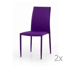Sada 2 fialových jedálenských stoličiek Castagnetti Fabi
