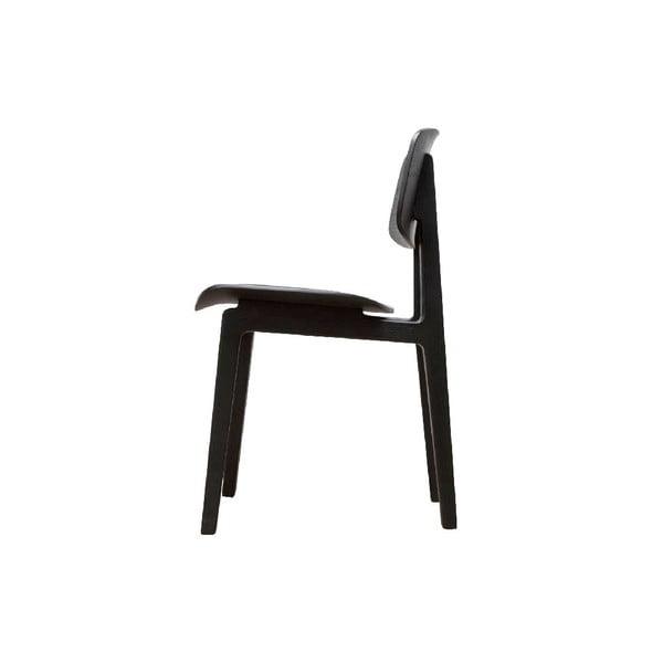 Čierna jedálenská stolička z dubového dreva NORR11 NY11