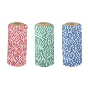 Sada 3 bavlnených záhradných šnúr Esschert Design Colors