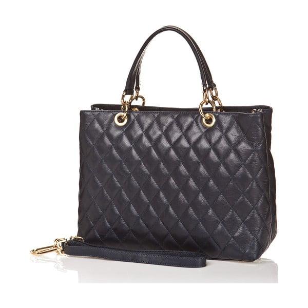 Kožená kabelka Ema, tmavo modrá