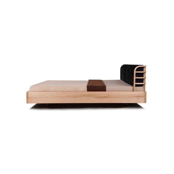 Posteľ Mazzivo Bow z jelšového dreva napusteného ľanovým olejom, 140 x 200 cm