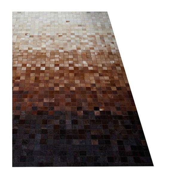 Koberec z pravej kože Sao Paulo Brown, 120x180 cm
