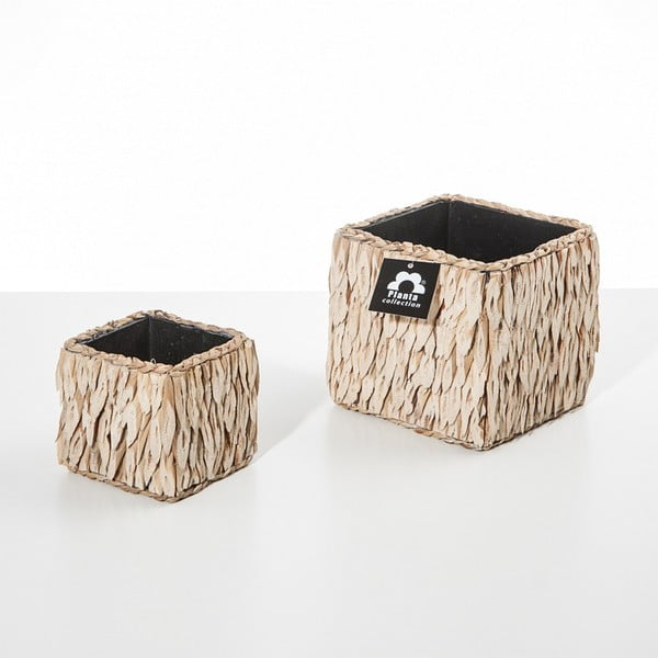 Set 2 kvetináčov Natural Cube