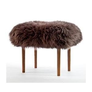 Stolička z ovčej kože Ceri Mink