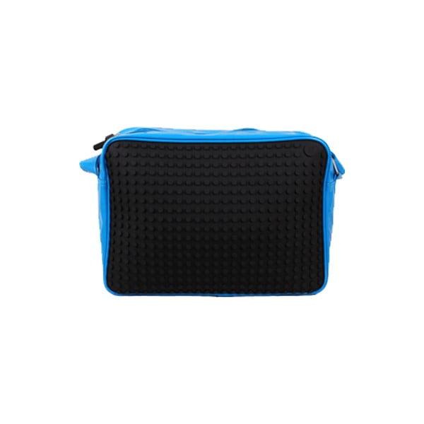 Pixelová messenger taška, black/blue