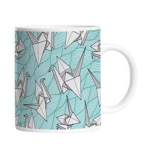 Keramický hrnček Bird Origami, 330 ml